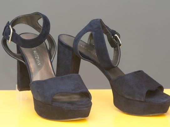 Stewart Weitzman blue suede shoes 13 June, 2016
