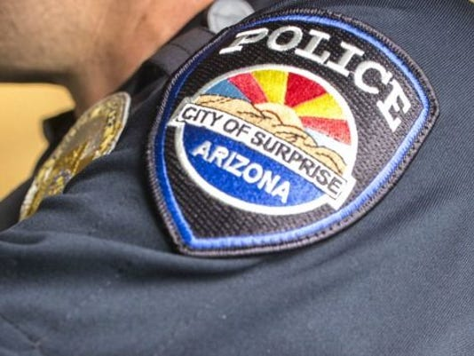 Surprise police badge