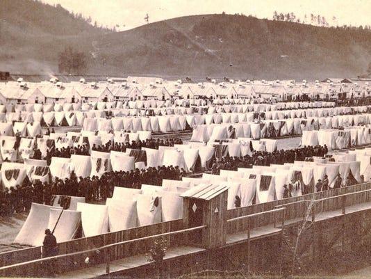 Civil War camp