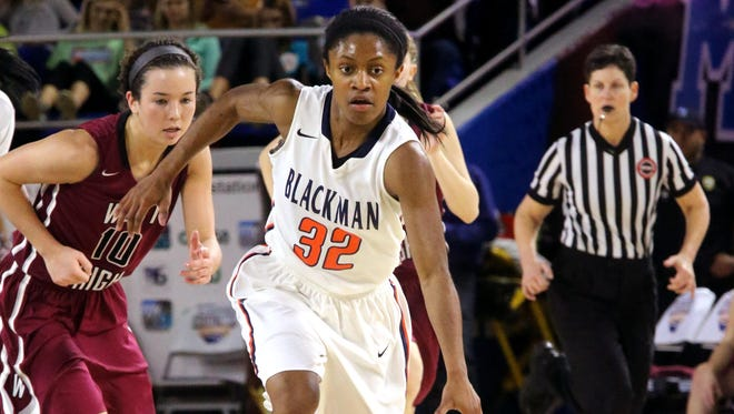 Blackman's Crystal Dangerfield and the Lady Blaze compete in the She Got Game Classic held at Blackman Friday-Sunday. Oakland, Riverdale and Stewarts Creek are also participating in the classic.
