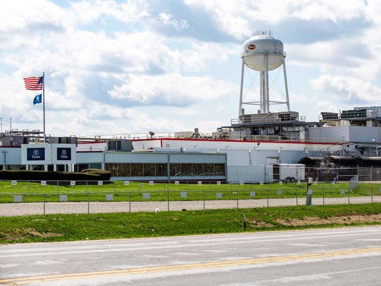The Columbus Junction Tyson Foods plant in Iowa has closed after 186 tested positive for the new coronavirus. The facility is one of the nation's major pork processing plants.