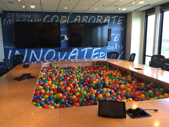 This is not your ordinary conference room. Shown is