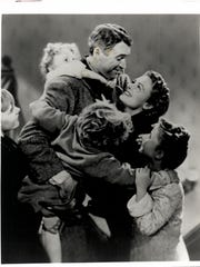 "James Stewart and  Donna Reed star in ""It's a Wonderful"