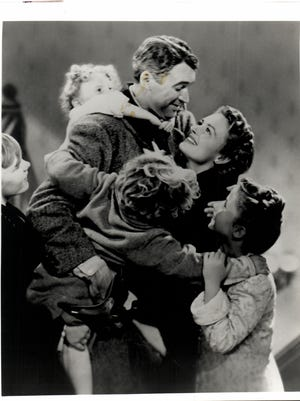 """James Stewart and  Donna Reed star in """"It's a Wonderful Life."""""""