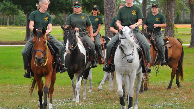 The Brevard County Sheriff's Office Mounted Patrol/Posse was practicing at the Wickham Park Equestrian Center in Melbourne on Sunday. Expect to see the the mounted patrols during the holiday season in parades and patrolling the port, malls and neighborhoods.
