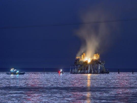 APTOPIX Oil Rig Explosion Louisiana
