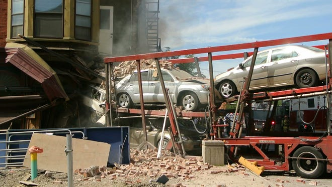 Truck crashes into Simeon's Restaurant on The Ithaca Commons