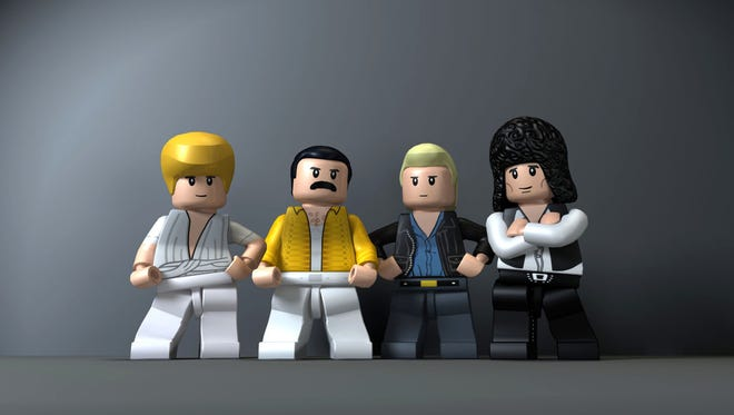 The band Queen from the game LEGO Rock Band.
