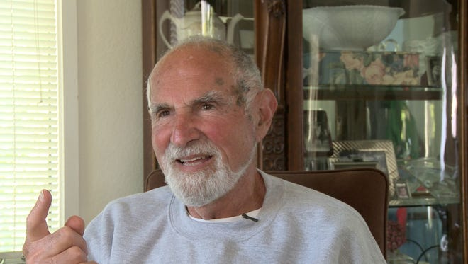 Jerry Graham, as seen in a frame-grab from the video of his final interview with his son Jefferson.