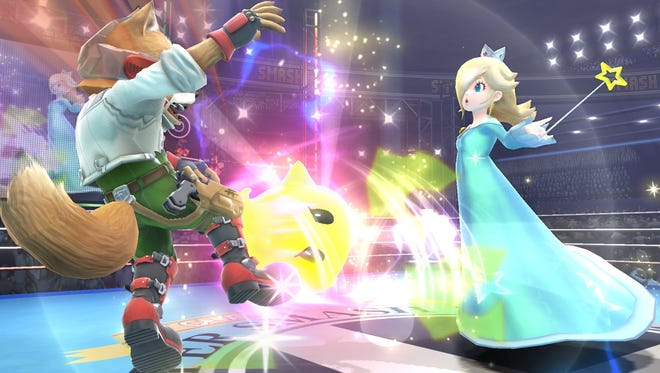 A screen shot from the upcoming video game 'Super Smash Bros. Wii U.'
