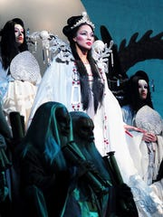 Othalie Graham performs as Princess Turandot for the