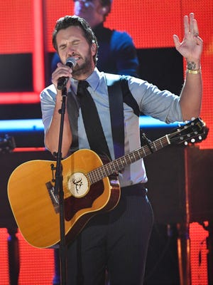 Luke Bryan, one of the 2017 CMT Artists of the Year, performs during the show at Schermerhorn Symphony Center Wednesday, Oct. 18, 2017 in Nashville, Tenn.
