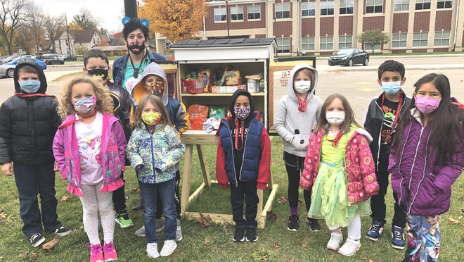 Janette Jones, and her Max Larsen first-grade class, help keep the Blessing Box full.