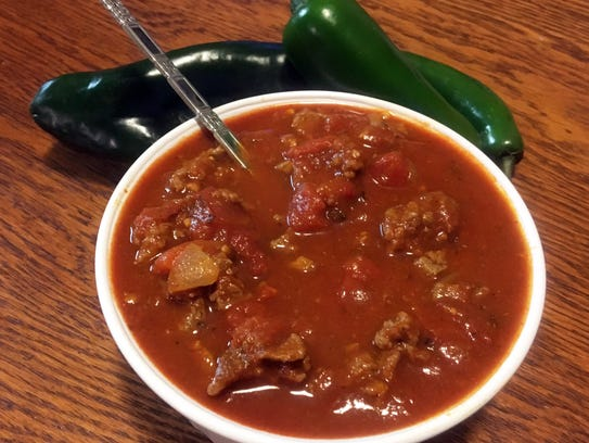 Chili Cook-Off champion Anthony Barone uses flank steak