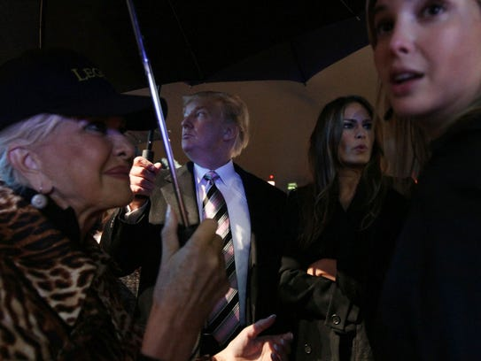 Donald Trump attends an Andrea Bocelli concert with,