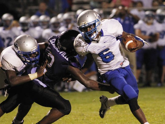Fort Campbell's Jaylen Williams led the Falcons into