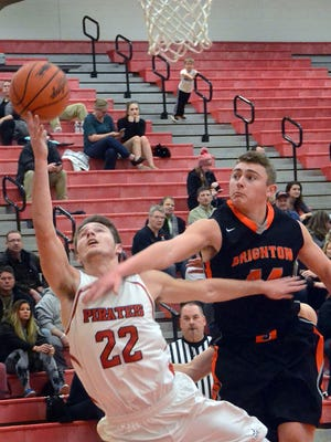 Kolton Pavlicek (22) had 14 points for Pinckney in a 54-33 district victory over Dexter.