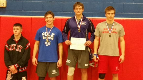 Mitchell senior Dalton Beaver was named the Western Highlands Conference tournament's Most Outstanding Wrestler on Friday.