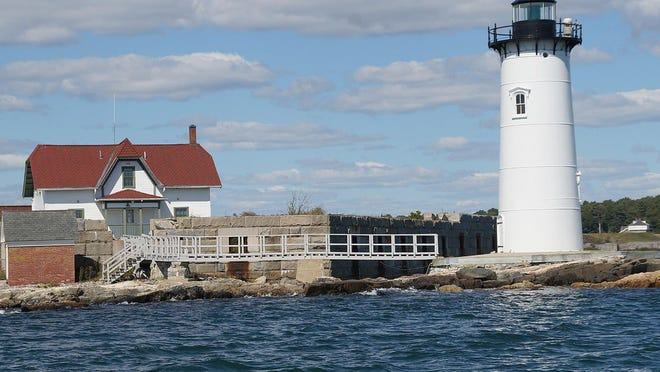 """The iconic 1878 Portsmouth Harbor Lighthouse at Fort Point, New Castle, site of Fort Constitution, formerly Fort William and Mary or """"The Castle."""" The light is now managed by the nonprofit Friends of Portsmouth Harbor Lighthouses."""