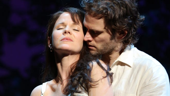 """Kelli O?Hara and Steven Pasquale in a scene from the play """"The Bridges of Madison County."""""""