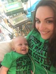 Tiffany Meyer with her son Austin.