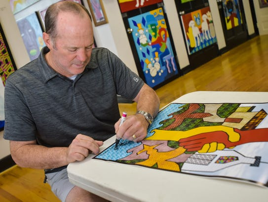 Local Artist Rob Harris created a special print to