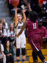 Khloe Saunders and the T.L. Hanna girls' team rose to No. 8 this week in the SCBCA Class AAAAA polls.