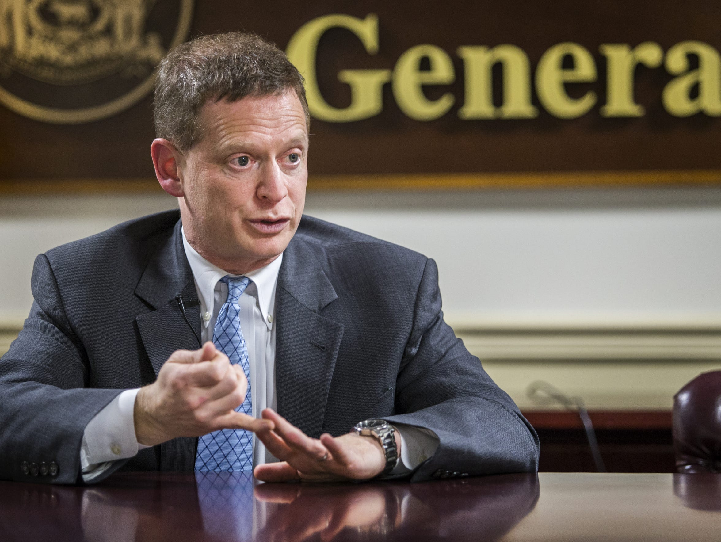 Attorney General Matt Denn discusses specifics regarding