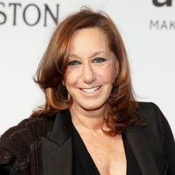 In this Feb. 11, 2015 file photo, Donna Karan attends amfAR's Annual New York Honors Gala in New York. Karan will step down from daily duties as chief designer of her namesake company to devote more time to her foundation.