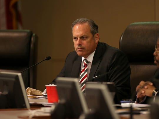 City Commissioner Scott Maddox during a meeting at