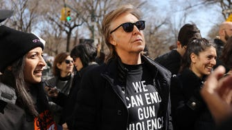 Paul McCartney at the March for Our Lives rally on March 24, 2018 in New York.