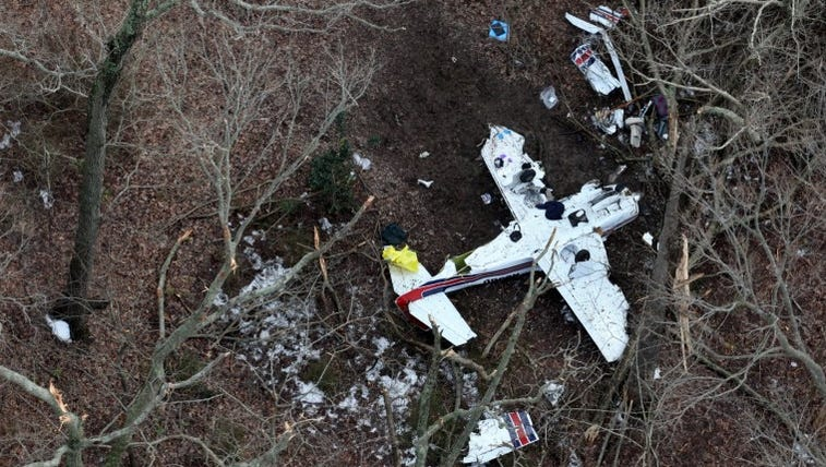 Aerial photos of the deadly plane crash that occurred