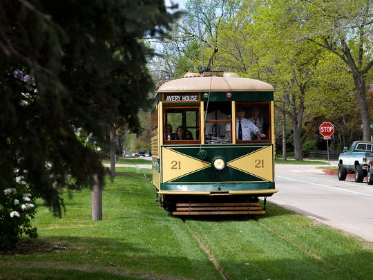 Fort Collins' historic trolley travels down West Mountain Avenue in this file photo.