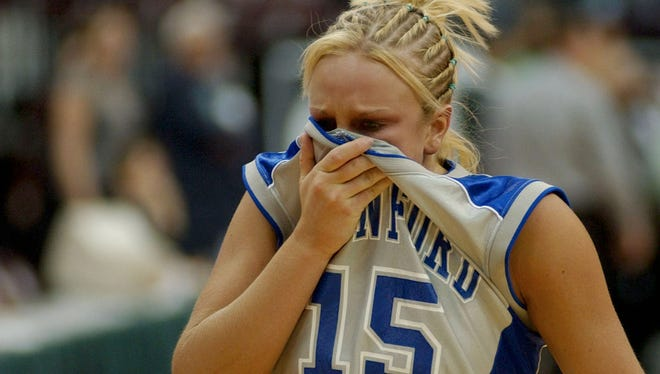 Amber Rall (Groves) in her final high school game. The Royals lost to Huntington in the Division III state semi finals on March 13, 2003.