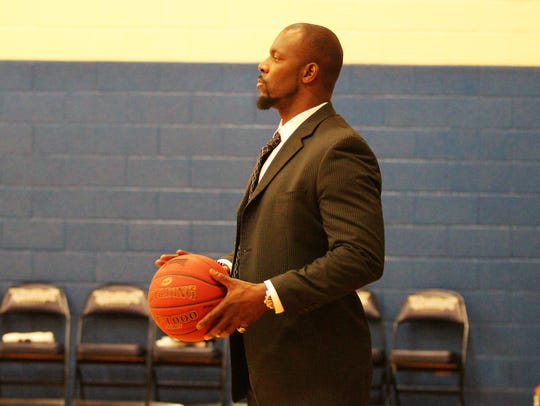 Montreat College assistant coach Tim Lewis watches