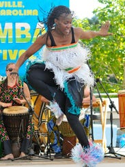 The West African Ivory Drum and Dance group Mosso-Kan, performs during a past Goombay Festival.