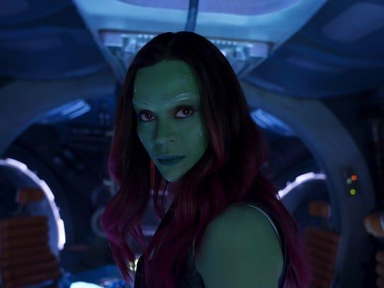 Gamora (Zoe Saldana) exudes a sisterly quality in 'Guardians