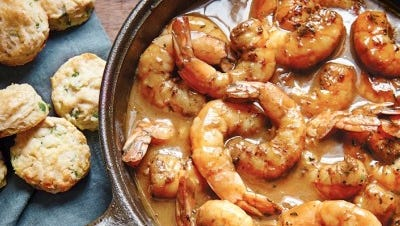 Barbecue shrimp has long been the signature dish at Emeril Lagasse's flagship restaurant, Emeril's in New Orleans. He includes a recipe for the dish in his new cookbook.