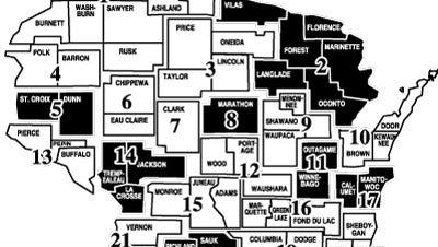 Wisconsin Milk Marketing Board District map.