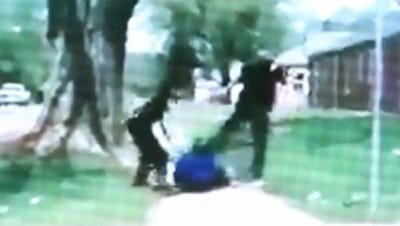 IMPD is investigating two officers after a controversial video showing the officers kicking a suspect surfaced earlier this month.
