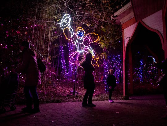 Zoo goers take a stroll with the fairies at The Cincinnati Zoo & Botanical Garden