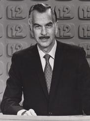 Channel 12 anchor Ray Thompson is seen in 1972.