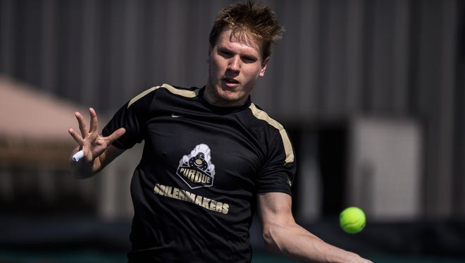 Gergely Madarasz will be only the second Boilermaker to compete in the NCAA Men's Singles Championships later this month.