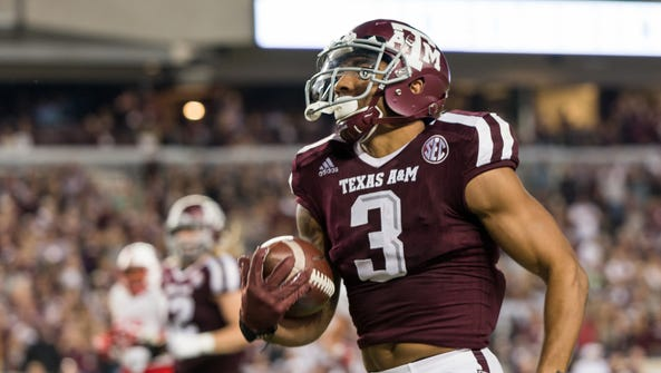 Texas A&M Aggies wide receiver Christian Kirk (3) could