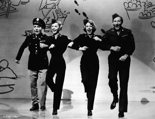 Bing Crosby, Rosemary Clooney, Vera-Ellen and Danny Kaye in