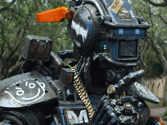 Chappie (Sharlto Copley) in a scene from the motion