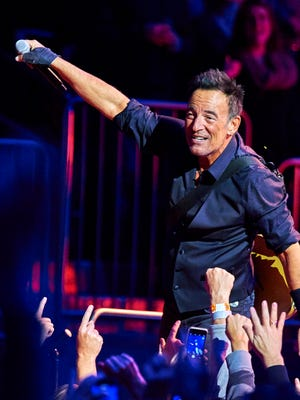 Bruce Springsteen performs with the E Street Band at Madison Square Garden in New York on Jan. 27, 2016.