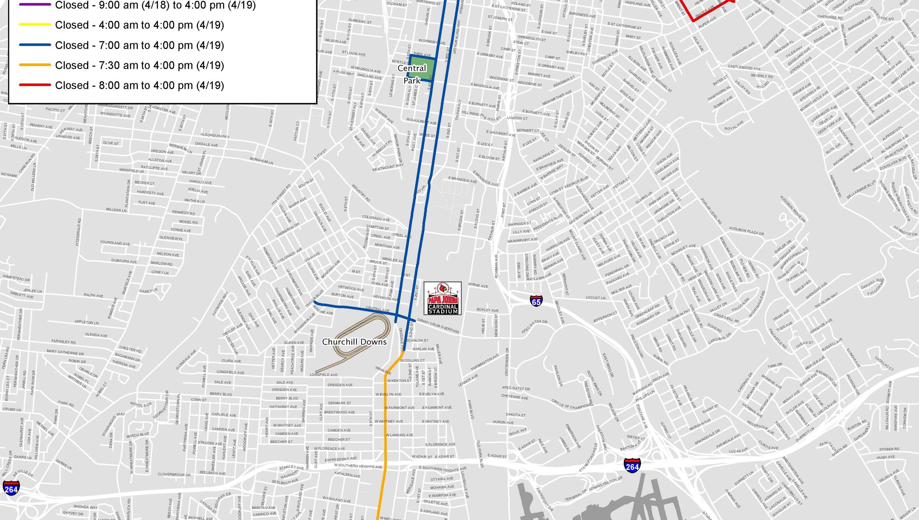road closures for derby festival marathons