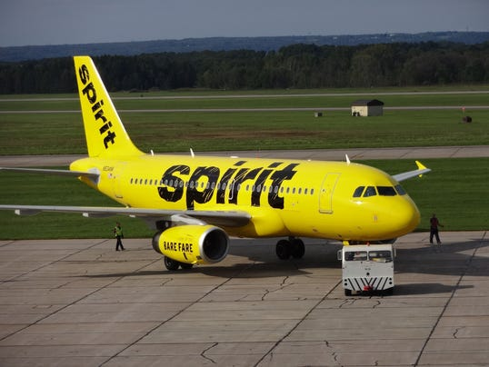spirit airlines rolled this airbus a319 painted in its new livery out