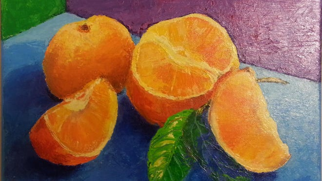 "Paintings by Ilga Ziemins-Kurens are featured in ""Cornucopia."""